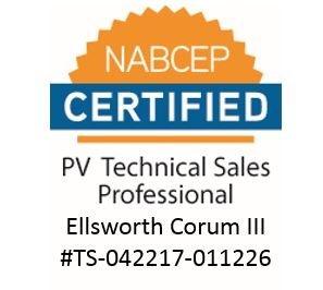 Ellsworth Corum III, NABCEP Certified PV Technical Sales Professional
