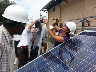 Woman receives solar training at Solar Source Institute