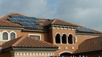 Solar Panels on Home In New Tampa
