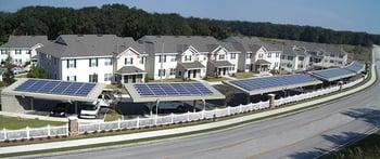 Solar Source carport at Cambridge Cove Apartments
