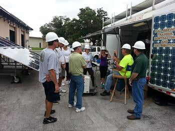 Sarasota County Solar Power PV Array
