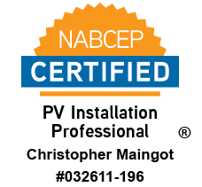 Christopher Maingot, NABCEP Certified PV Installation Professional