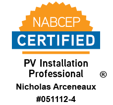 Nicholas Arceneaux, NABCEP Certified PV Installation Professional