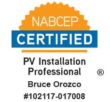 Bruce Orozco, NABCEP Certified PV Installation Professional